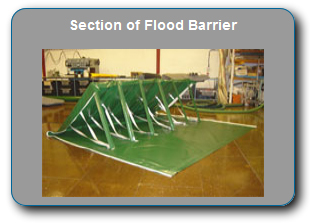 Flood barrier section